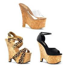 Cute Womens Summer Cork Wedge Heels