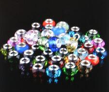 Edler Glas Bead  Element facettiert - plattiert für Armband 0103/1
