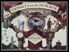 Hendrick's Gin, Art reprint metal retro sign vintage sign tin