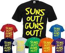 Sun's out Guns out t shirt 22 Jump Street Channing Tatum gym surf swim summer