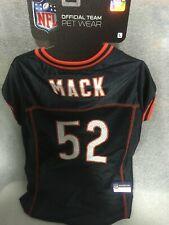 Khalil Mack #52 Chicago Bears Licensed NFLPA Dog Jersey Navy, Sizes XS-XL