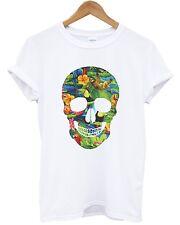 Tropical Skull T camisa Top urbano Swag Hip Hop Streetwear Dope Hombre Mujer Niño