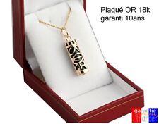 Pendentif amulette porte bonheur TIKI en argent ou plaqué Or avec chaine 50cm