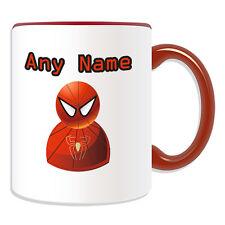 Personalised Gift Spiderman Mug Money Box Cup Icon Design Name Super Hero USA