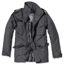 Brandit - M65 Standard Feldjacke Schwarz, Parka US Style Jacke mit Futter