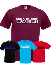 T-shirt ANTI JUVE milan napoli inter toro antijuventus tifoso cotone unisex