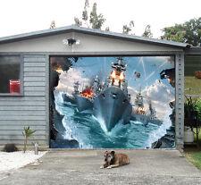 3D Exercice Navals Garage Door Murals Wall Print Decal Wall Deco AJ WALLPAPER FR