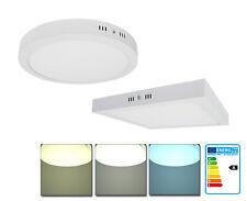Plafonnier LED 24W 30cm Rond/carré Lampe Luminaire Projecteur Panneau