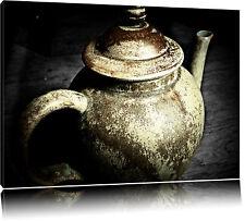 Clásicos Viejo Tetera Hecho de Cerámica Foto en Lienzo Decoración de Pared