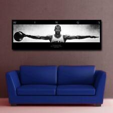 Michael Jordan Wings! Edition Panoramic Poster Canvas Print Decor Wall Art