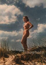 1939 Vintage Original EARLY COLOR FEMALE NUDE Germany Naturist Nudist Photo Art