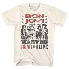 Bon Jovi Wanted Dead or Alive Tour Men's T Shirt Rock Band Album Music Merch Top