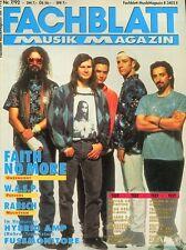 Fachblatt # Juli 1992 -FAITH NO MORE- W.A.S.P., Rausch, Test : Tascam 464 / Korg