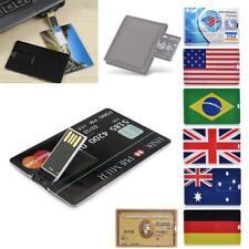 4/8/16/32/64G Bank Credit Card Shape U Disk Memory Stick USB Flash Drive lot KJ