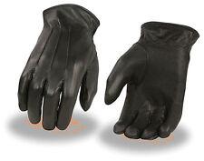 Men's Black Thermal Lined Premium Leather Gloves Motorcycle Rider Biker Work W
