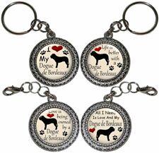 Dogue De Bordeaux Dog Key Ring Key Chain Purse Charm Zipper Pull #2