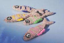 Single Catnip filled Sardine Fish x1 soft felt by Tiga Toys Soft 100% wool eco