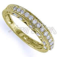 Pave-Set .50 CWT Diamond Wedding Ring in 14k Yellow Gold Sizes 4 to 9.5 #R1161