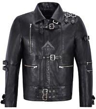 Men's Leather Jacket Michael Jackson inspired Black Music Fashion jacket MJ Bad
