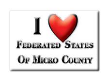 SOUVENIR USA -  FRIDGE MAGNET AMERICA I LOVE FEDERATED STATES OF MICRO COUNTY