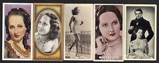 CIGARETTE/TRADE/CARDS. Film Star.MERLE OBERON. (5 Cards).