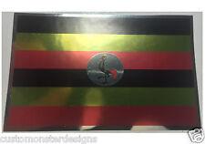 UGANDA FLAG Decal Vinyl Sticker chrome or white vinyl decal and 15 sizes!