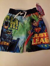 Justice League  Boys  Board Short Swim Trunks Size  4 or  7 NWT
