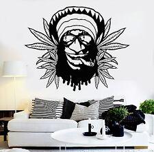 Vinyl Wall Decal Hippie Rastafarian Weed Marijuana Cannabis Stickers (ig3673)