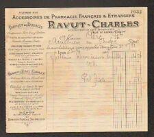 """LYON (69) USINE d'ACCESSOIRES DE PHARMACIE """"RAVUT & CHARLES"""" en 1909"""