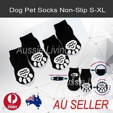 Dog Socks Non-Slip S M L XL White Skull - Puppy Cat Pet Shoes Slippers