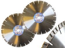 2 Stück Diamantscheibe 300 x 25,4 als Set Diamant-Trennscheibe Diamant-Sägeblatt