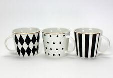 Kaffeebecher Tasse Favorite (V39840) Porzellan schwarz-weiß Goldrand