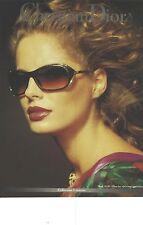 PUBLICITE ADVERTISING 1992   DIOR collection lunettes modèle 2610         011012