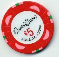 Crystal Casino $5 Casino Chip Sonesta Aruba