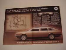 advertising Pubblicità 1980 LANCIA GAMMA