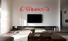 Vendita Sharks Rugby Wall Art Sticker, Decalcomania, qualsiasi superficie piana, auto vinile, vetro