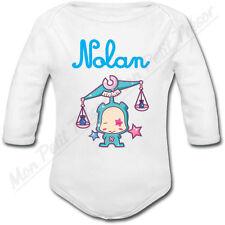 Body Bébé Balance Horoscope avec prénom ou texte personnalisé