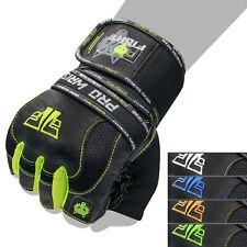PRO WRIST Handschuhe Fitness Kraftsporthandschuhe Leder Fitnesshandschuhe Neu