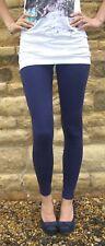 Ankle Full Length Leggings Pants Viscose NAVY Size 6 8 10 12 14 16 18 20 22 24