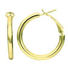 14K Gold Omega Back Hoop Earring, Diameter 25mm