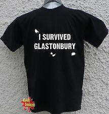 He sobrevivido Glastonbury Festival de Música T Shirt Todos Los Tamaños