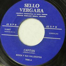 BOVEA Y SUS VALLENATOS capitan b/w El Bizcochuelo 45 merengue CURRULAO