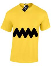 Charlie Brown Mens T Shirt Funny Dibujos animados retro Snoopy Peanuts Ventilador de Diseño Top