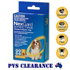 Nexgard Spectra Yellow Single for Small Dogs 3.6 - 7.5 kg 1-Pack - Nexguard