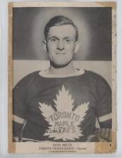 1939-40 O-Pee-Chee V301 #8 Don Metz Toronto Maple Leafs Rookie Hockey Card