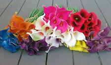 ARTIFICIALI CALLA LILY MAZZO di 10 in molti colori-real touch fiori
