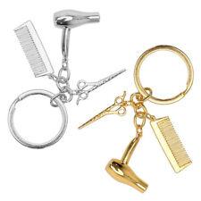 1 Pièces Porte-clés Pendentif en Métal Forme de Séchoir / ciseaux / peigne