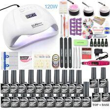 Nail set 120W UV LED LAMP for Manicure Gel nail polish Set Kit Gel Varnish
