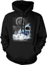 Great White Shark Moon Spirit Animal Ocean Sea Nature Hoodie Pullover