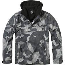 Brandit Militare Hooded Windbreaker Uomo Giacca Anorak Night Digital Camo